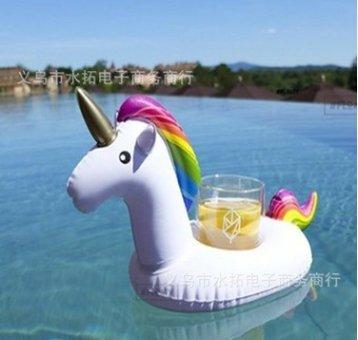 Portabevande gonfiabili, simpatici galleggianti per bevande animali Sottobicchieri gonfiabili per feste in piscina e giocattoli da bagno per bambini M
