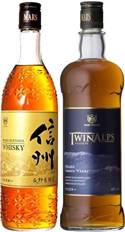 マルスウイスキー 2本 飲み比べセット 「信州 長野県限定 720ml」 「マルスウイスキー TWIN ALPS(ツインアルプス) 750ml」 マルス信州蒸溜所