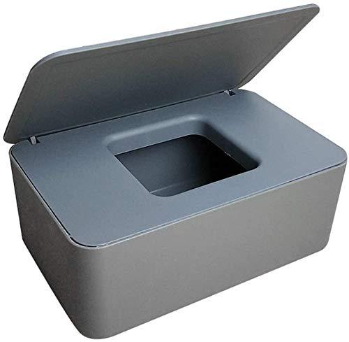 Feuchttücher-Box,Baby Feuchttücherbox,Baby Tücher Fall,Toilettenpapier Box,Tissue Aufbewahrungskoffer,Taschentuchhalter,Kunststoff Feuchttücher Spender,Tücherbox,Serviettenbox (Grau)