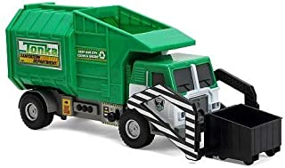 Tonka Mighty Motorized Vehicle - Front-Loader Garbage & Waste Department Truck (Green)