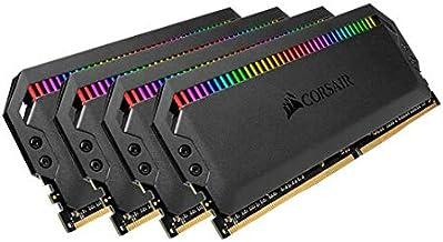 CORSAIR Dominator Platinum RGB 64GB (4x16GB) DDR4 3200 (PC4-28800) C16 1.35V Desktop Memory - Black