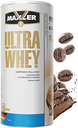 Maxler Ultra Whey Protein Pulver - Natürlich schmeckendes Protein Whey - Eiweiß Shake für Muskelaufbau, Wiederherstellung, Pre Workout & Post Workout - Whey Protein Kaffee - 450 g