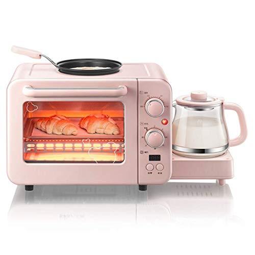 ZJDK 8L Mini-Dampfofen Multifunktionale Frittiermaschine Backmaschine Warmtrinkmaschine DREI-in-Eins-Maschine Einstellbare Temperatur 100-250 ° C und 30-Minuten-Timing-Tür aus gehärtetem Glas 140