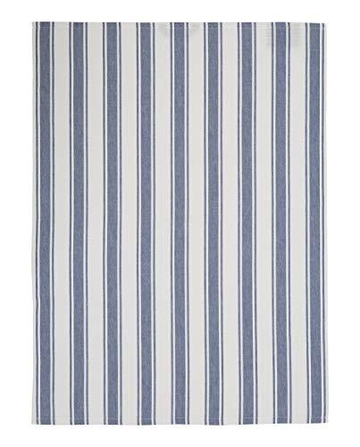 Lexington thee, keukendoek, katoen, wit/blauw, 50 x 70 cm