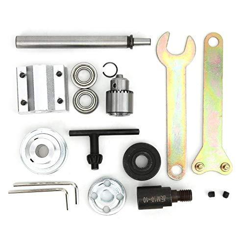 Conjunto de eje de taladro, Accesorio de taladro de mesa de bricolaje, Accesorio de taladro de mesa de molienda de alta precisión, para taladro de columna, amoladora de mesa, sierra de mesa