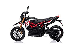 Kids Electric Ride On Bike with Excellent Quality and Comfort 36W Motors, 12V 7A Rechargeable Battery (supplied) , Two Wheels Suspension, LED Light, Horn Product size: 108*48*71cm, 11 KG LED lights, Music input on handle bar. Excellent gift for kids ...