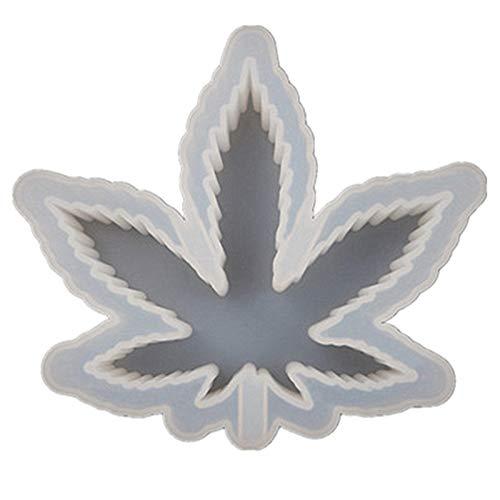 YUKAKI Molde para cenicero de cristal para manualidades, diseño de hojas de...