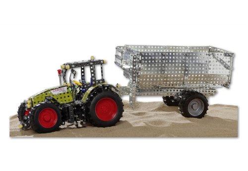RCEE 10095 - Metallbaukasten Traktor CLAAS mit Anhänger