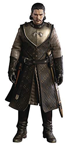 ThreeZero Game of Thrones: Jon Snow (versión 8 de Temporada) Figura Coleccionable a Escala 1: 6, Multicolor