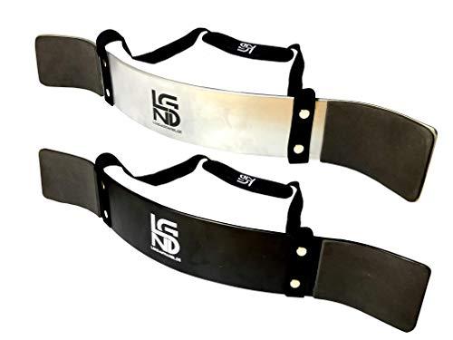 LEGEND Arm Blaster Bizeps Isolator für Bodybuilding, Kraftsport & Gewichtheben - Bizepstrainer (Silber)