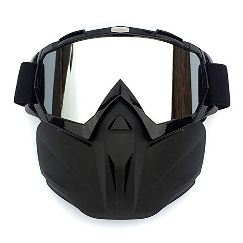 Ademende Helm Fog-proof winddicht Open Gezicht helm met bril Motocross Goggle Motorcycle Cross-country Race for Bike Cycling Skiën Riding Outdoor Sports