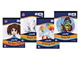 UCreate Art Pad Bundle, 9' x 12', White 4 Pack
