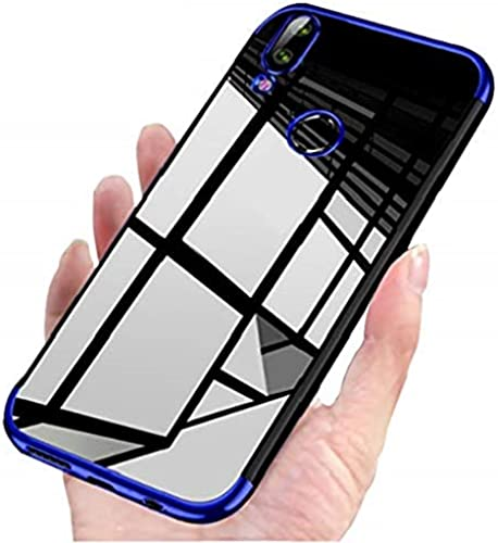 Mobistyle Luxury Electroplating Soft Silicon Transparent TPU Back Case Cover For Redmi Note 7 Redmi Note 7 Pro Redmi Note 7S Blue