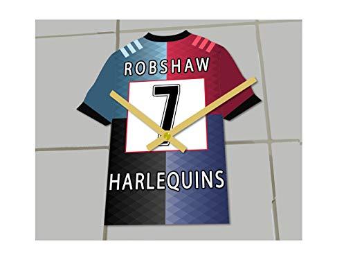 MyShirt123 English Premiership Rugby Union – Rugby-Trikot-Uhr – jeder Name und jede Nummer – Sie wählen (Harlequins Rugby RFC)
