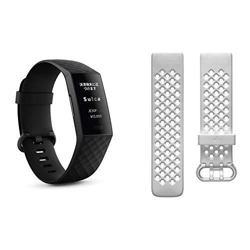 バンドセット【Suica対応】 Fitbit Charge4 GPS搭載フィットネストラッカー Black/Black L/Sサイズ [日本正...