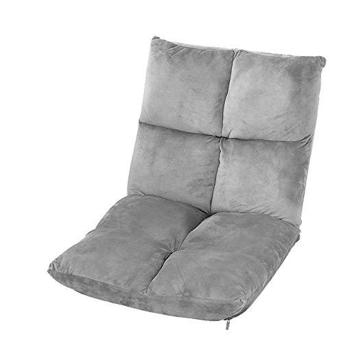 ZYLE Cómodo Tatami Lazy Couch Bean Bag Sofá de Tela Sillón Dormitorio Dormitorio Ventana de la Ventana Plegable Multifuncional Taburete Simple 105 × 54cm (Color : Gray)