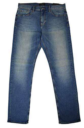 BANANA REPUBLIC Men's Slim Fit Technomotion Jeans Light Blue Wash 34W x 32L