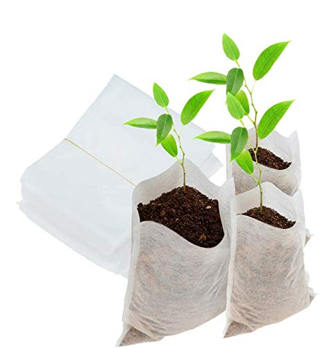 200Pcs Biodegradable Non-Woven Nursery Bags Plant Grow Environmental Bags Fabric Seedling Pots Plants Pouch Home Garden Supply