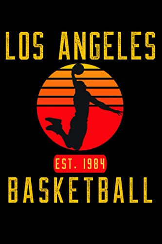 Los Angeles Basketball: Retro Sunset Basketball Player Notebook Gift Idea