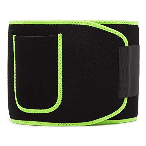 Belleashy Cinturón De Entrenador De Cintura Cinturón De Cintura Adelgazante De Pérdida De Peso Unisex para Entrenamiento Físico Unisex (Size:L; Color:Green)