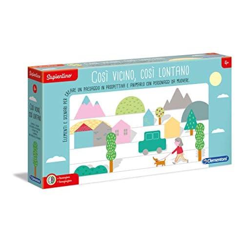 Clementoni - 16196 - Sapientino - Così vicino, così lontano - scenari e paesaggi in prospettiva - gioco educativo 4 anni con tessere illustrate - Made in Italy