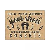 RQJOPE Felpudo por Favor, quítese los Zapatos, rústico...