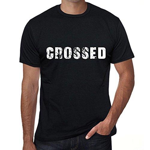 One in the City Hombre Camiseta Personalizada Regalo Original con Mensaje Divertido Crossed L Negro