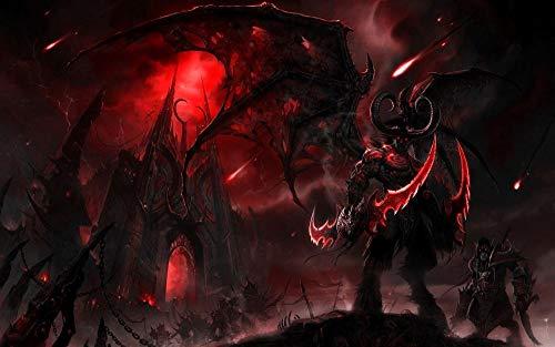 XYDH 1000 Teiliges Puzzle FüR Erwachsene,Videospiel World of Warcraft Familien HochauflöSendes Druckpuzzle,Familienspiel,Geschenk Und Geschenk FüR Liebhaber Oder Freunde./75 * 50CM