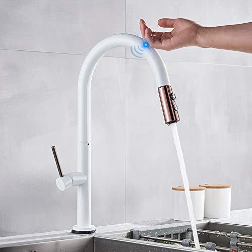 grifo de agua Grifo de cocina táctil Grúa para sensor Grifo de agua de cocina Mezclador Extraíble Grifo de cocina Sensible Grifo de control táctil inteligente