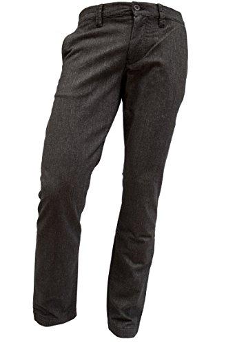 ALBERTO Regular Slim Fit Hose Stretch Struktur anthrazit Größe W34 L34