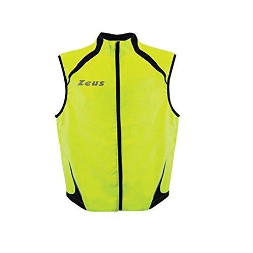 Gilet Flash Running Course athlétique Zeus M Giallo Fluo - Nero