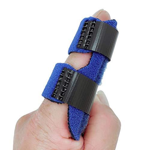 Libershine Finger Schiene, Verstellbarer Befestigungsgürtel mit integrierter Aluminium Stütze für Finger Sehnen Release und Schmerzlinderung
