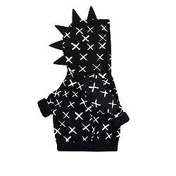 4. YOUNGER TREE Store Cross Pattern Dinosaur Toddler Hoodie