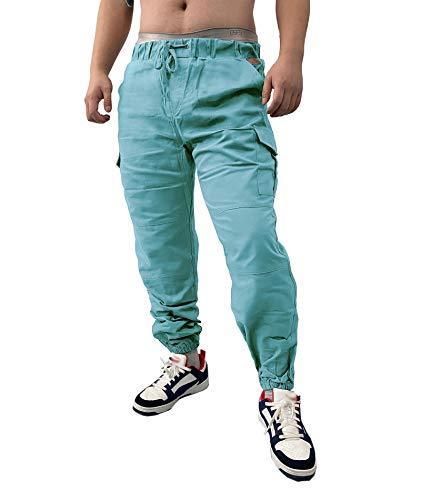 HAHAEMMA Herren Hosen Slim Fit Cargo Chino Casual Jogger Sporthose Freizeithose Jeans Hose mit Taschen Joggers Activewear Hosen Stretch Schwarz Herbst Winter M-4XL(BE,XL)