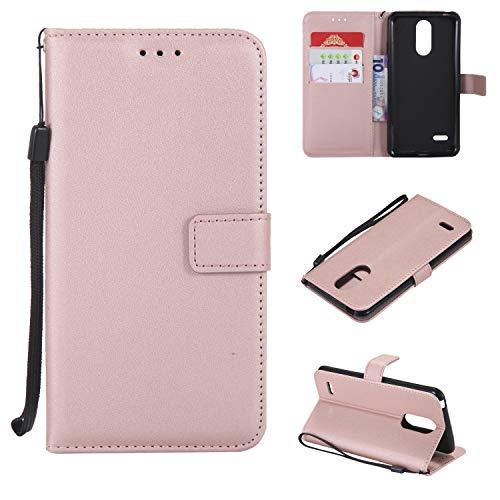 TTUDR Leder Wallet Case für LG K8 (2017) / US215 Wallet Flip Case mit Kickstand Kartenfächer Magnetverschluss Schutzhülle für LG K8 2017 - TTMS020850 Rosegold