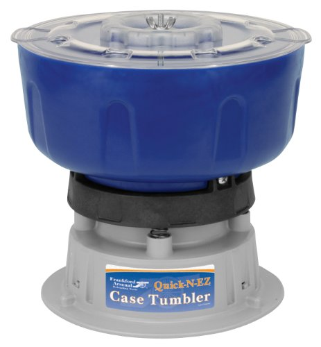 Frankford Arsenal Quick-N-EZ 220V Vibratory Case Tumbler for Brass Cleaning and Reloading