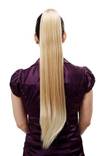 WIG ME UP - T113-24BT613 Postiche/natte, très longue, lisse, pince-papillon, env. 70 cm, mélange de blond