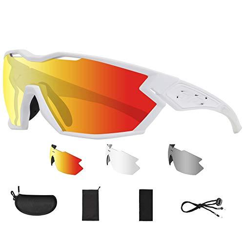 ZYQDRZ Gafas De Ciclismo Que Cambian De Color, Gafas A Prueba De Viento para Bicicletas Deportivas Al Aire Libre, Montura TR90 Importada, Gafas De Sol Deportivas Polarizadas UV400,#7