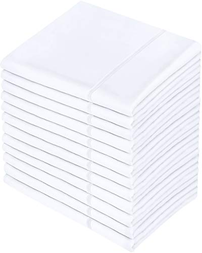 Utopia Bedding Pillowcases - 12 Pack - Bulk Pillowcase Set - Envelope Closure - Soft Brushed Microfiber Fabric - Shrinkage and Fade Resistant Pillow Covers 20 x 30 Inches (Queen, White)
