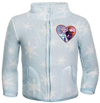 Brandsseller Veste polaire pour enfant Reine des Neiges avec col montant, Mixte enfant, bleu clair, 110-116