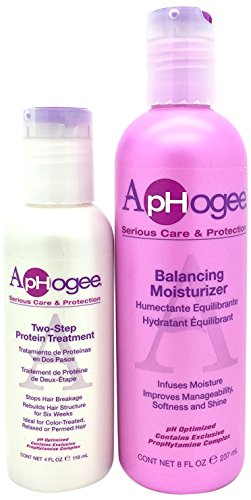 Aphogee Balancing Moisturizer 237 ml and Two Step Protein Treatment Kit 118 ml