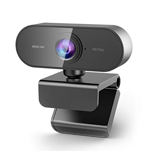 NIYPS Webcam for PC with Microphone-FHD 1080P USB Web Camera for PC,MAC,Laptop,Plug and Play Streaming Webcam for Youtube,Skype Video Calling,Studying,Conference,Gaming Face Cam with Rotatable Clip