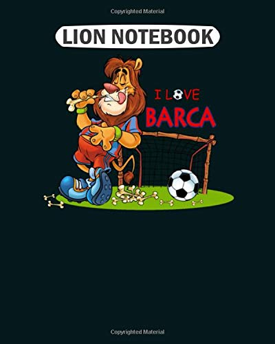 Lion Notebook: barca  College Ruled - 50 sheets, 100 pages - 8.5 x 11 inches