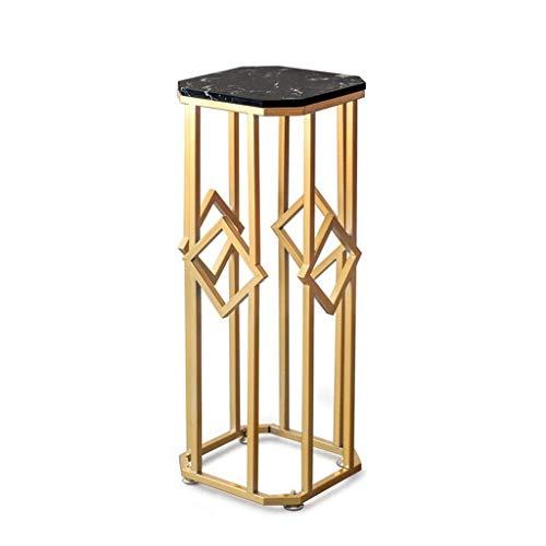 Racks Raum Metall Eckblumen Rack-einfachen Fuß Marmor-Arbeitsplatten Home Decoration Glatte...