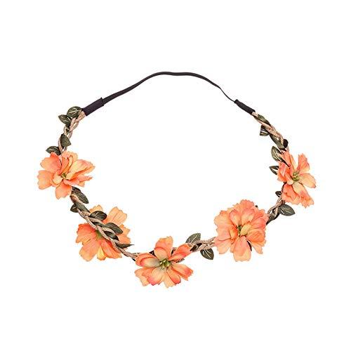 Yazilind Blume stirn Haar Stirnband haarkrone Sommer Festival Girlande Braut Hochzeit Kopfbedeckung orange
