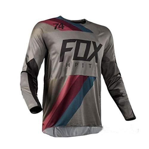 MOODISHA 2020 T-Shirt Motocross Jersey Hpit Fox Vtt Descente Jeresy Mx Cyclisme Vtt Dh Maillot Ciclismo Hombre Maillot À Séchage Rapide, Xxxl