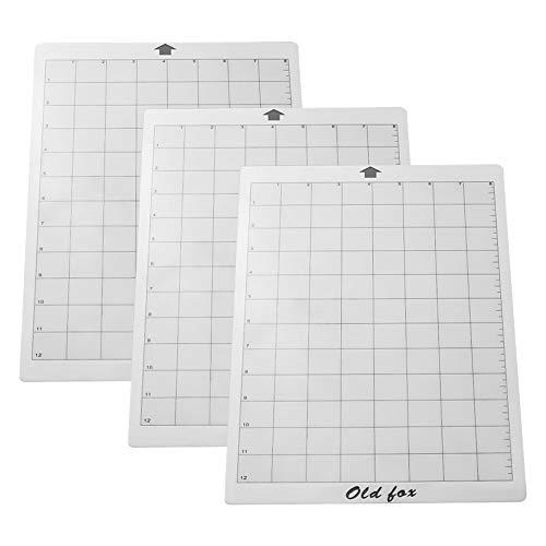 bobotron 3 pezzi di ricambio tappetino da taglio adesivo con griglia di misurazione 8 da 12 pollici per Silhouette Cameo esplorazione plotter macchina