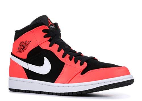 Nike Herren AIR Jordan 1 MID Basketballschuhe, Mehrfarbig (Black/Infrared 23-White 061), 44 EU