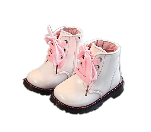 Toddler Kids Girl's Short Boots Waterproof Side Zipper Lace-Up Rain Hiking Ankle Snow Boot Outdoor Shoes(Toddler/Little Kid)