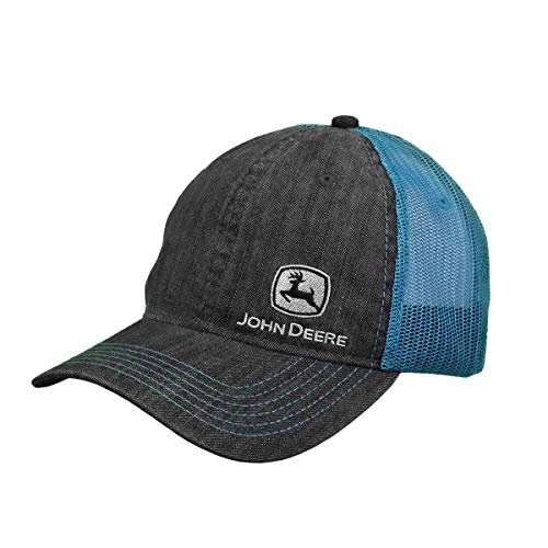 John Deere Ladies' Turquoise Chambray Mesh Hat/Cap - LP73334
